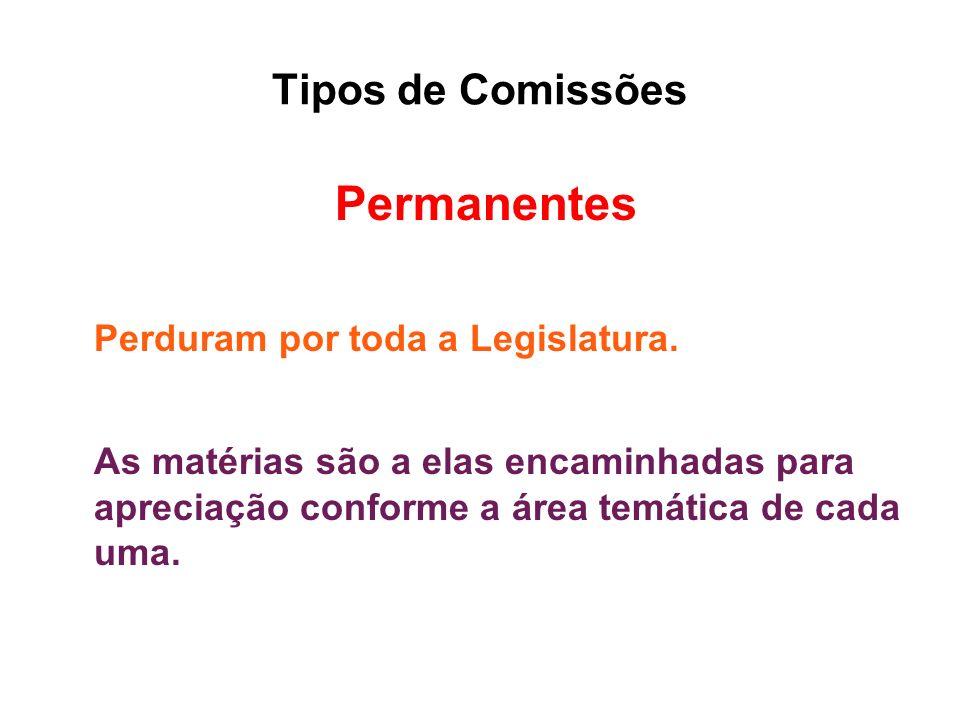 Tipos de Comissões