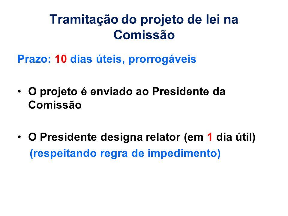 Tramitação do projeto de lei na Comissão
