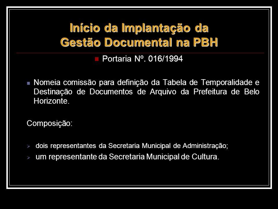 Início da Implantação da Gestão Documental na PBH