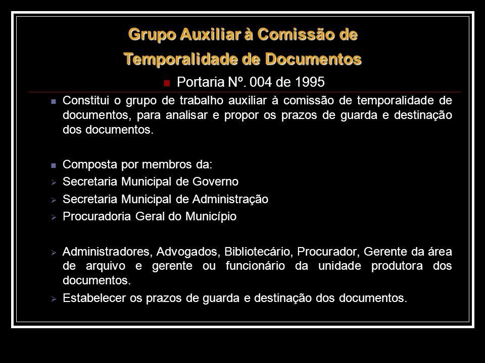 Grupo Auxiliar à Comissão de Temporalidade de Documentos