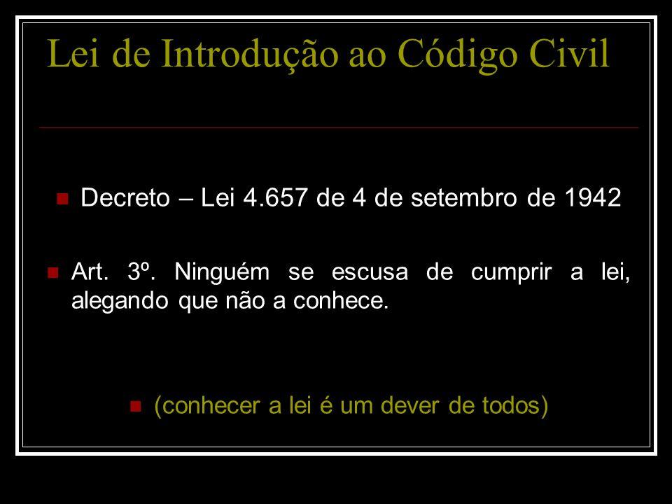 Lei de Introdução ao Código Civil