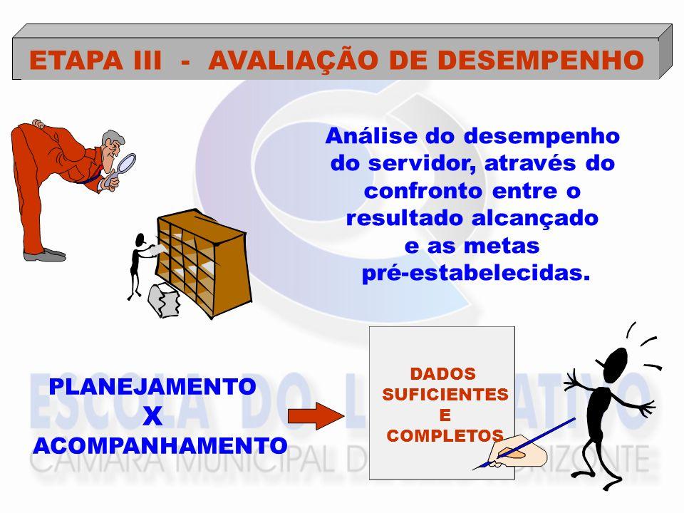 ETAPA III - AVALIAÇÃO DE DESEMPENHO