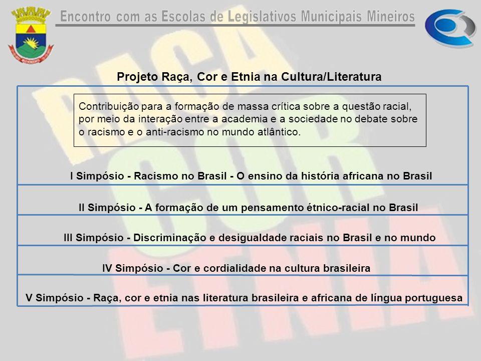 Projeto Raça, Cor e Etnia na Cultura/Literatura