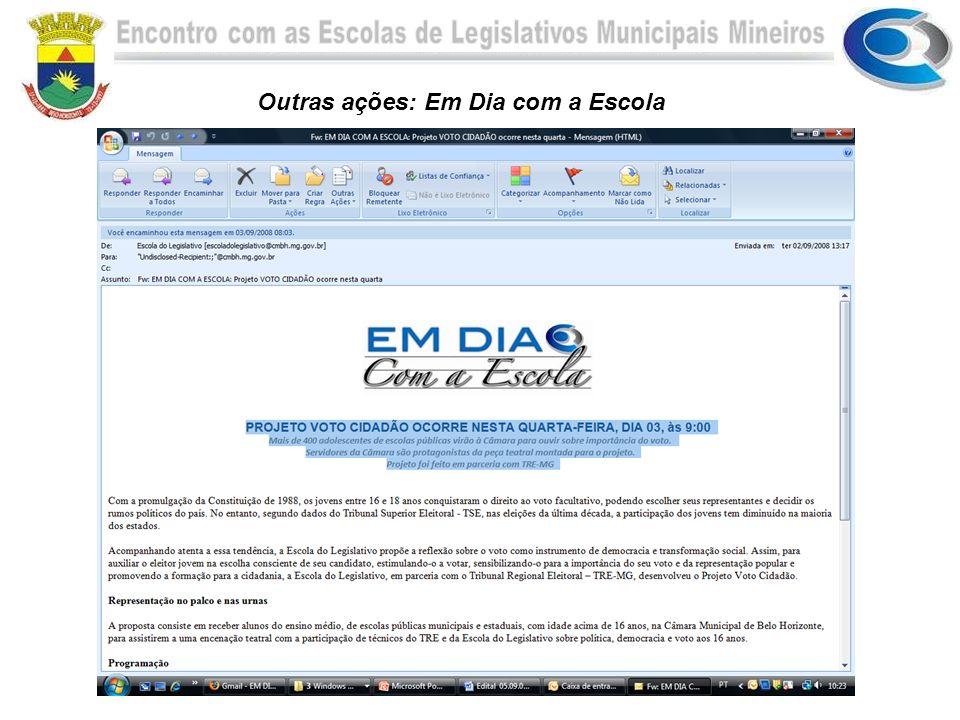 Encontro com as Escolas de Legislativos Municipais Mineiros