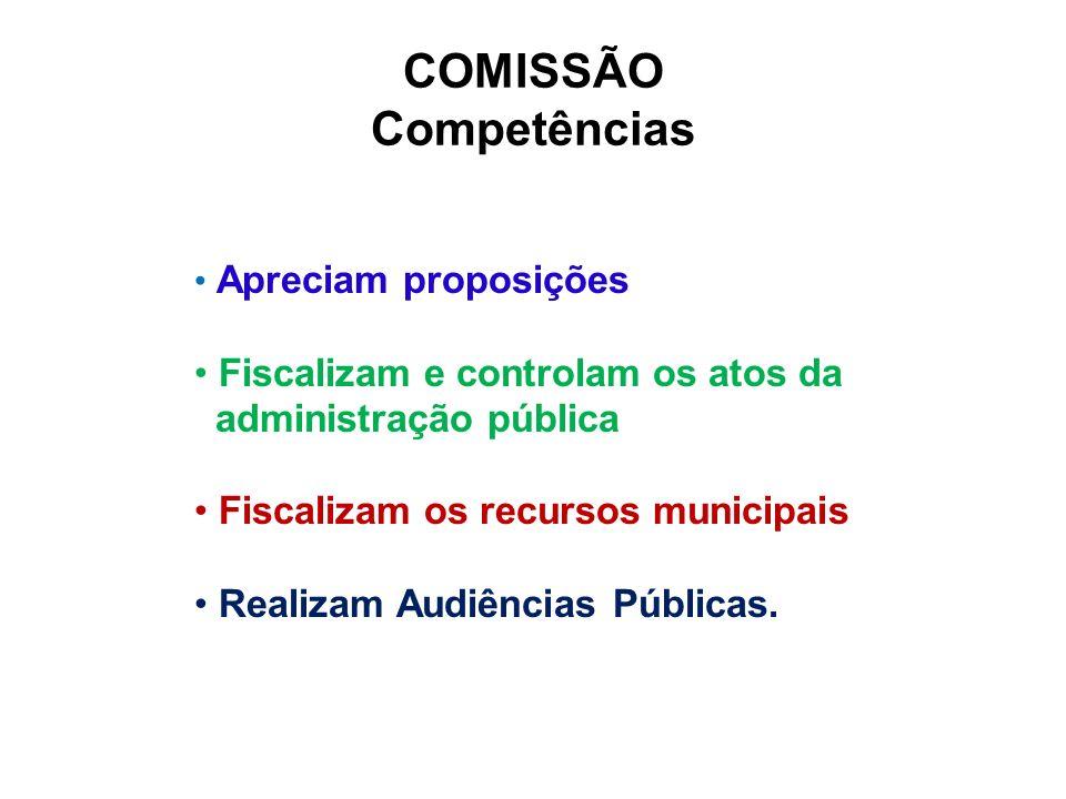COMISSÃO Competências