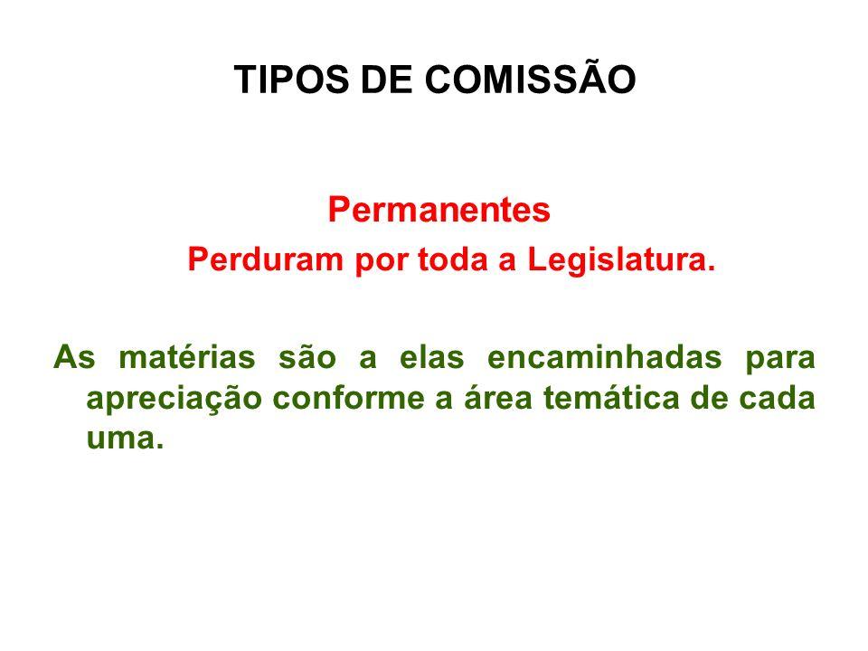 TIPOS DE COMISSÃO