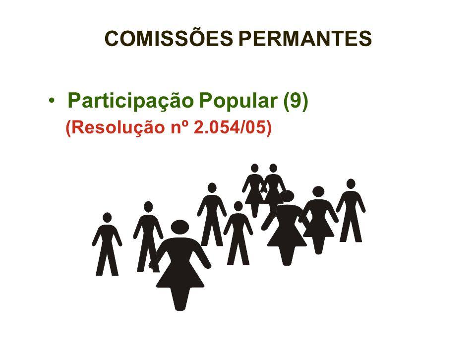 COMISSÕES PERMANTES Participação Popular (9) (Resolução nº 2.054/05)