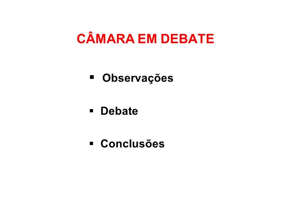 Observações Debate Conclusões
