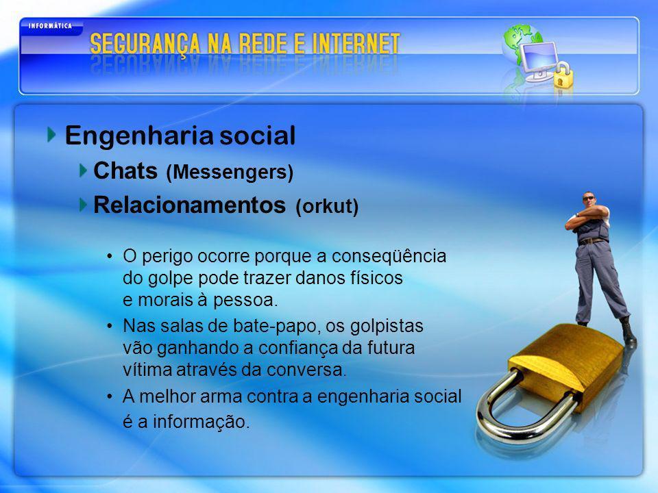 Engenharia social Chats (Messengers) Relacionamentos (orkut)