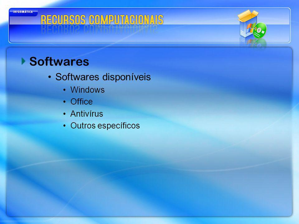 Softwares Softwares disponíveis Windows Office Antivírus