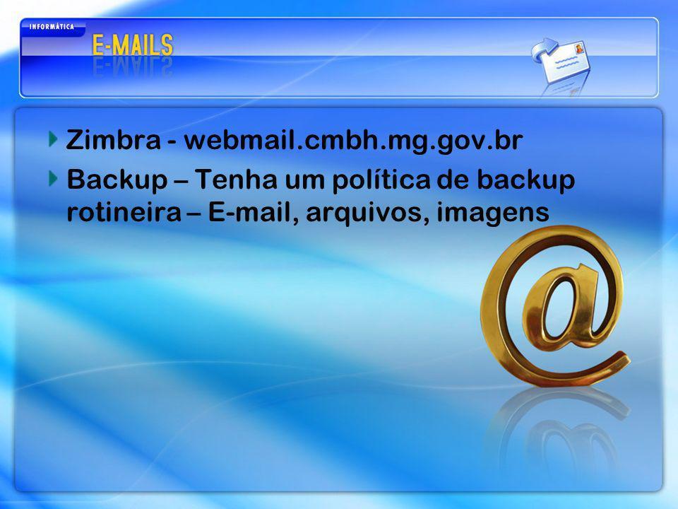 Zimbra - webmail.cmbh.mg.gov.br