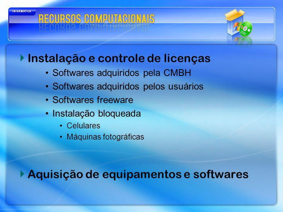 Instalação e controle de licenças
