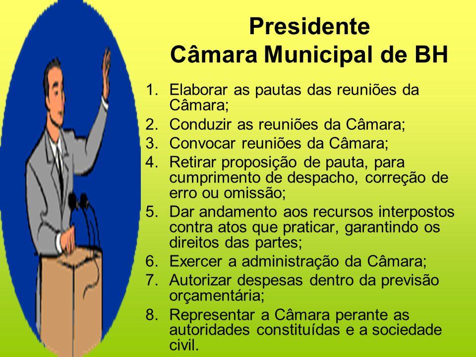 Presidente Câmara Municipal de BH
