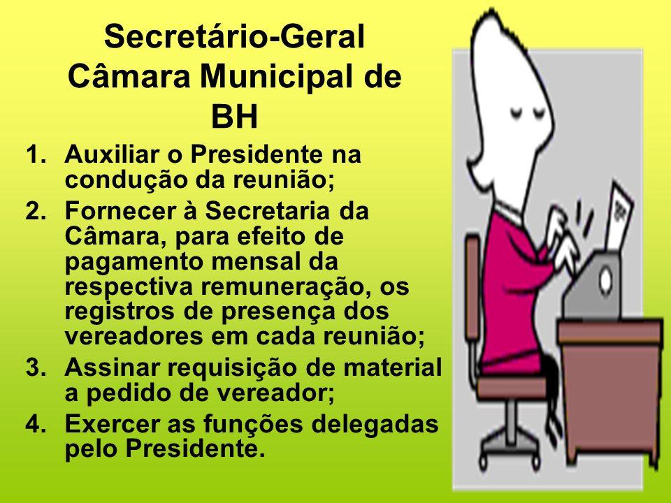 Secretário-Geral Câmara Municipal de BH