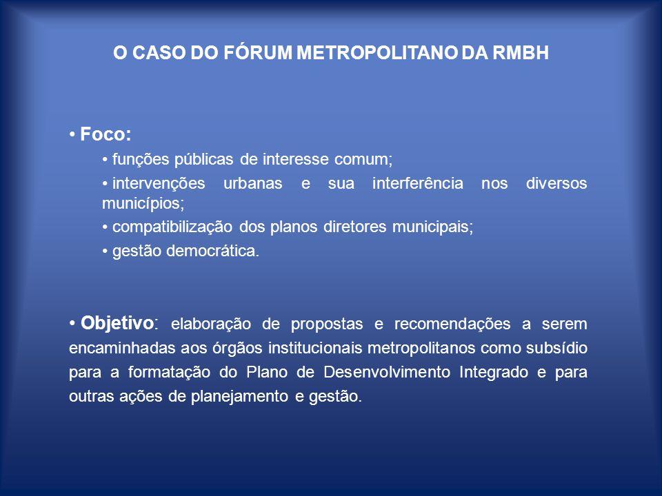 O CASO DO FÓRUM METROPOLITANO DA RMBH