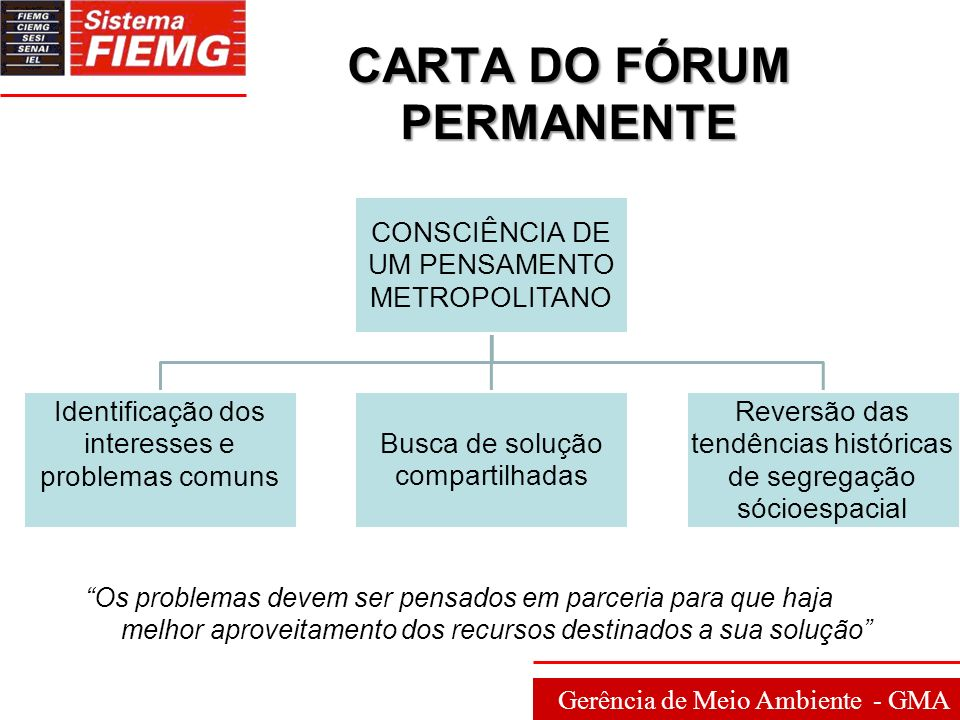CARTA DO FÓRUM PERMANENTE