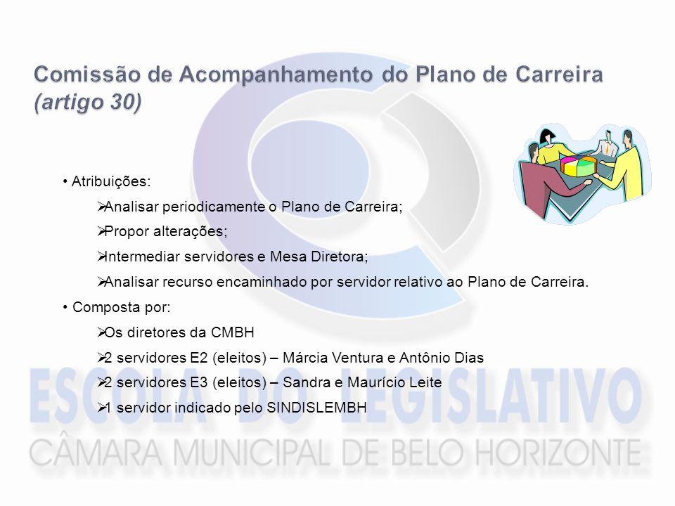 Comissão de Acompanhamento do Plano de Carreira (artigo 30)