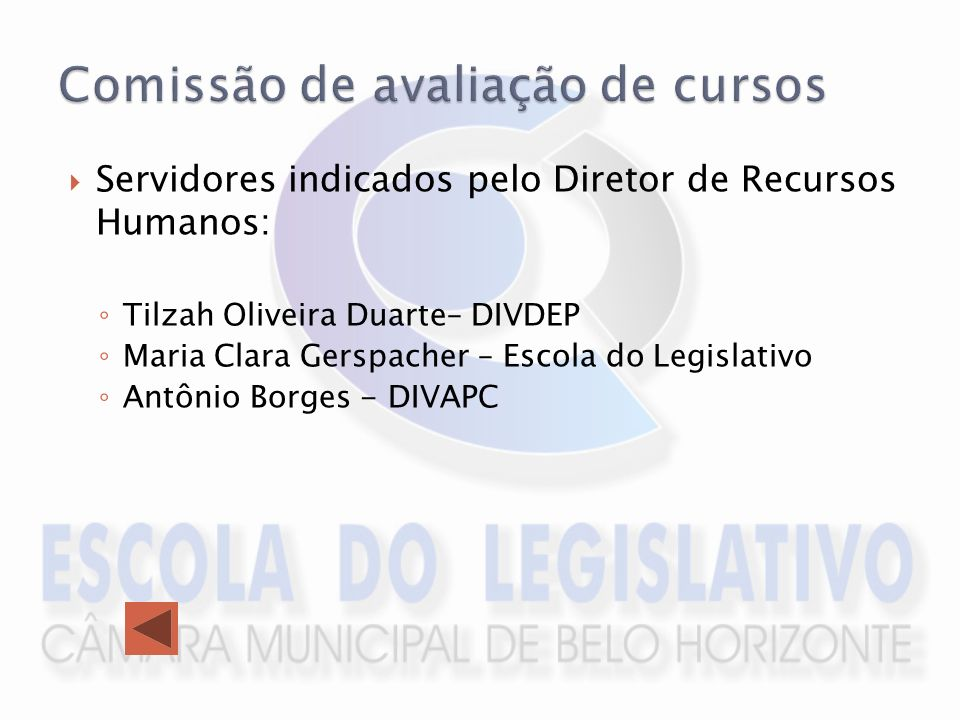 Comissão de avaliação de cursos