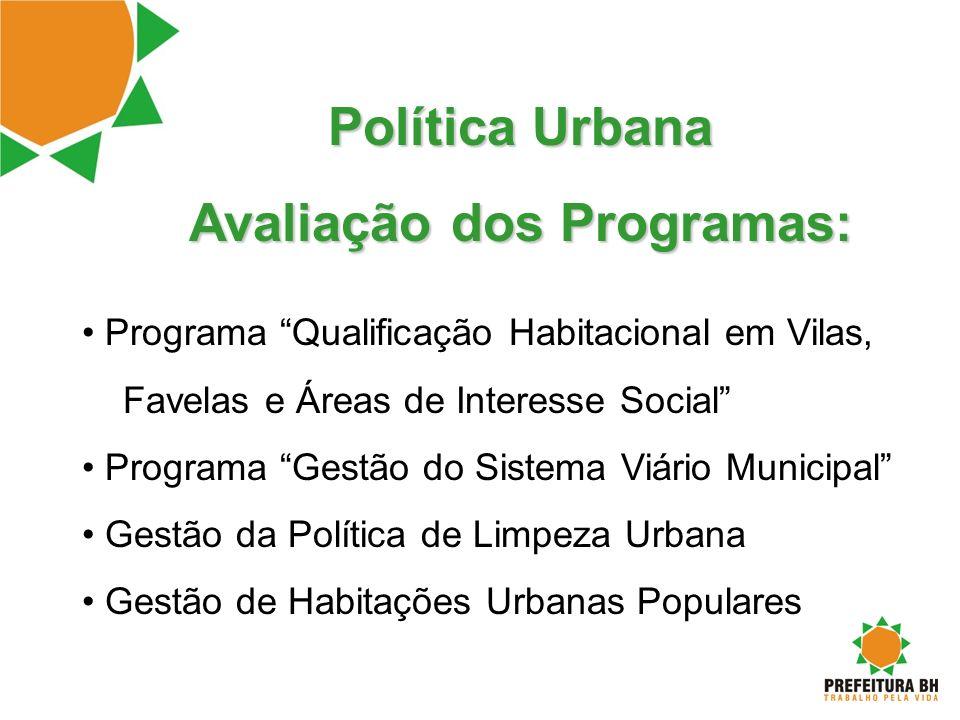 Avaliação dos Programas: