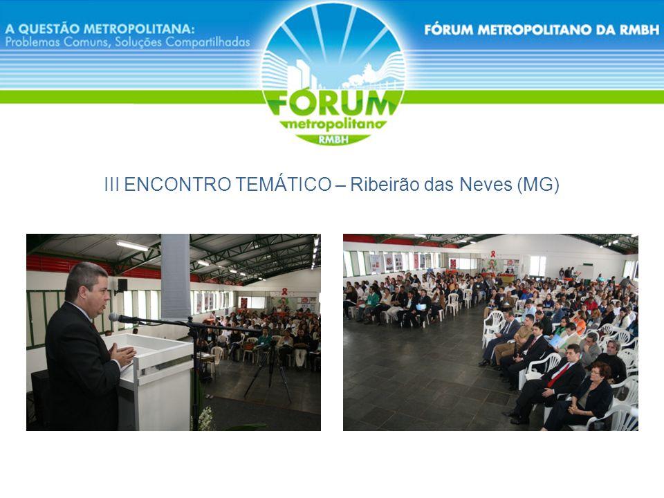 III ENCONTRO TEMÁTICO – Ribeirão das Neves (MG)
