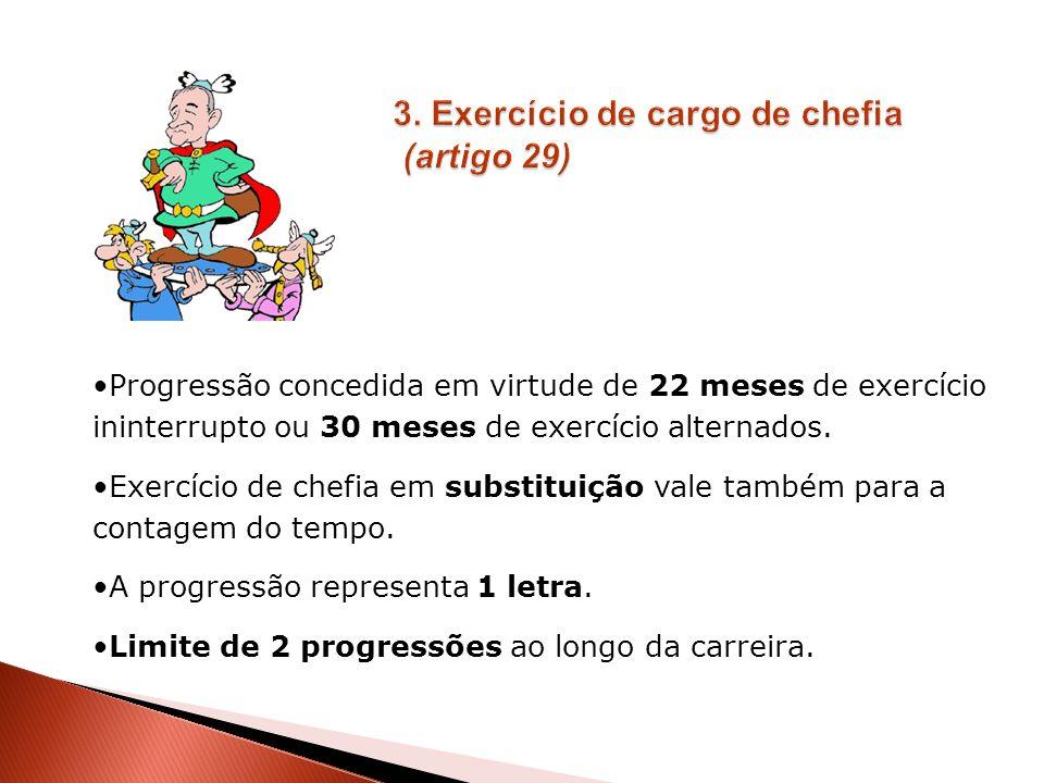 3. Exercício de cargo de chefia (artigo 29)