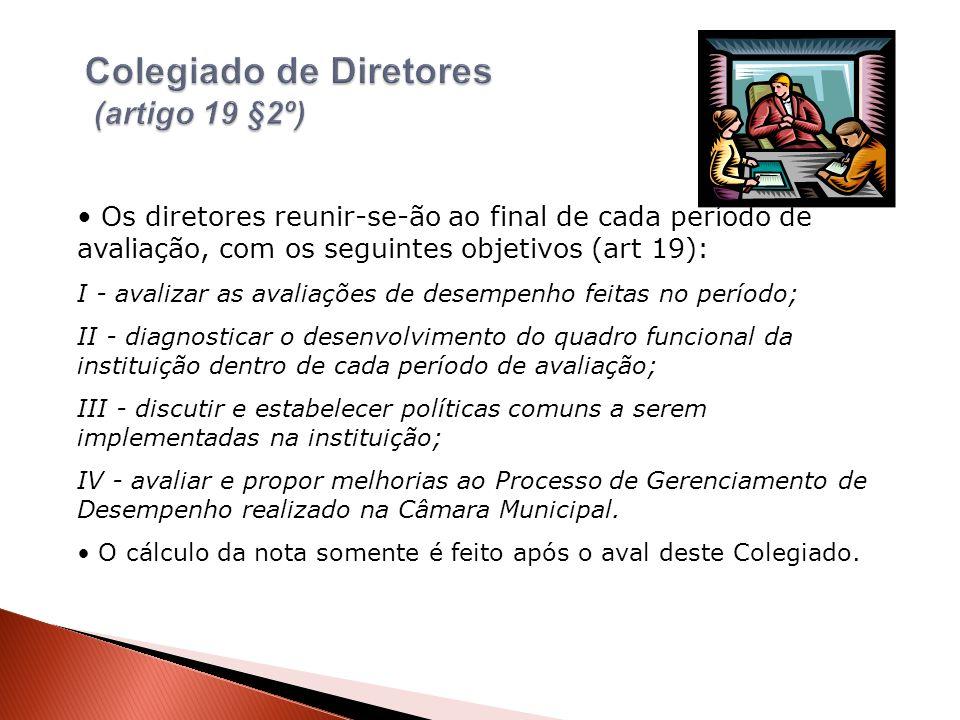Colegiado de Diretores (artigo 19 §2º)