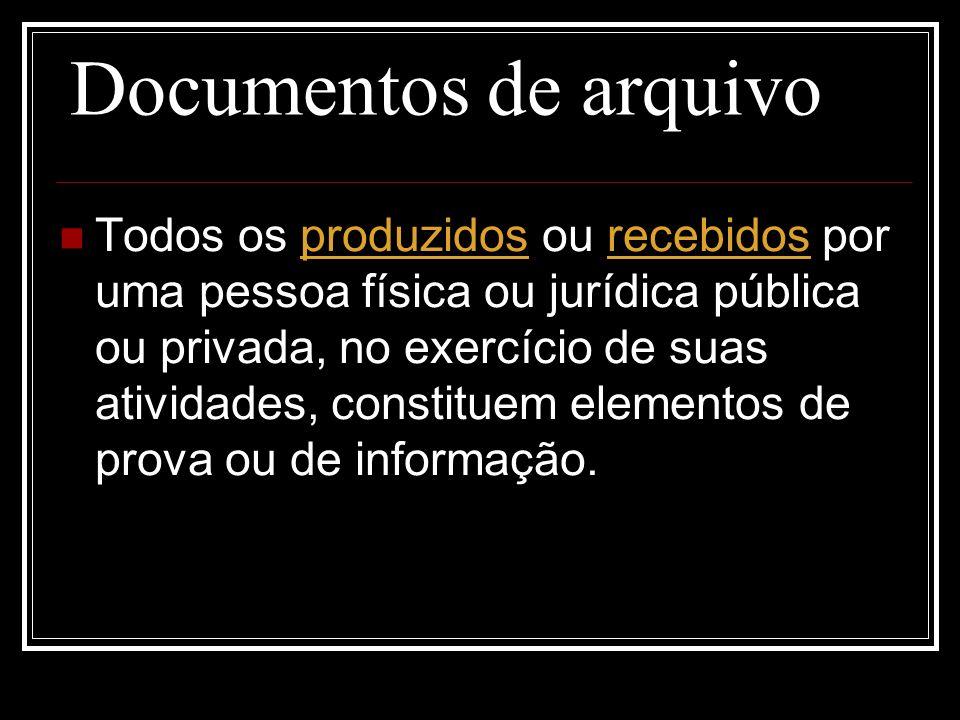 Documentos de arquivo