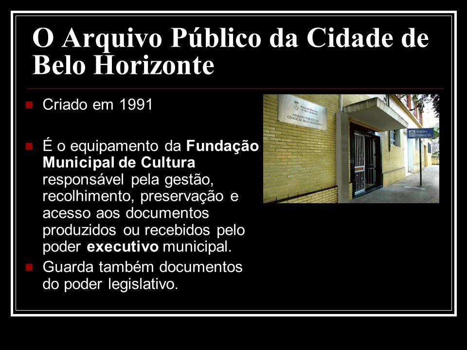 O Arquivo Público da Cidade de Belo Horizonte