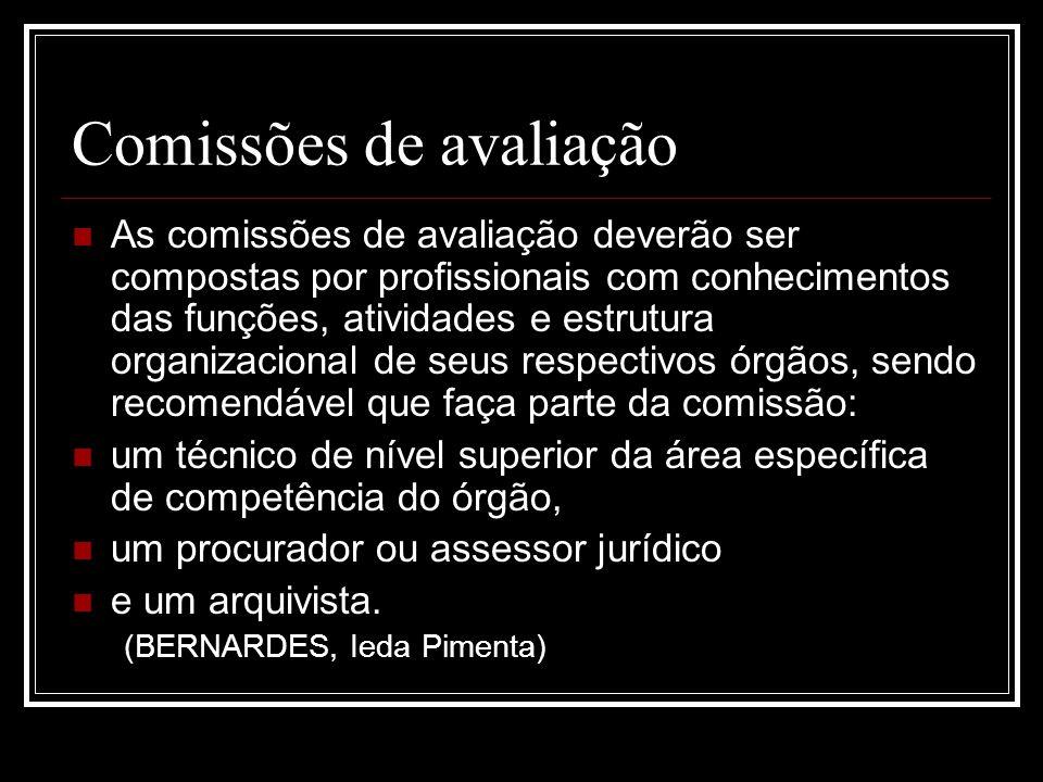 Comissões de avaliação
