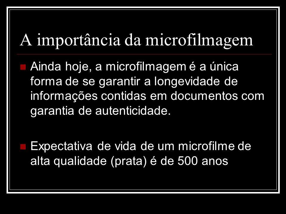 A importância da microfilmagem
