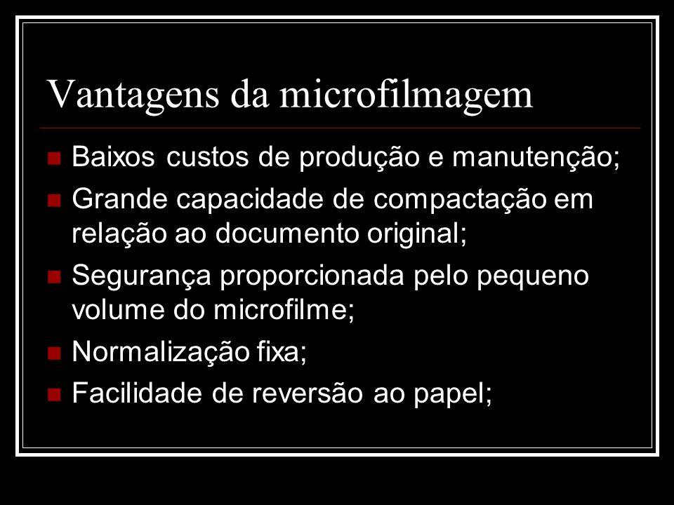 Vantagens da microfilmagem