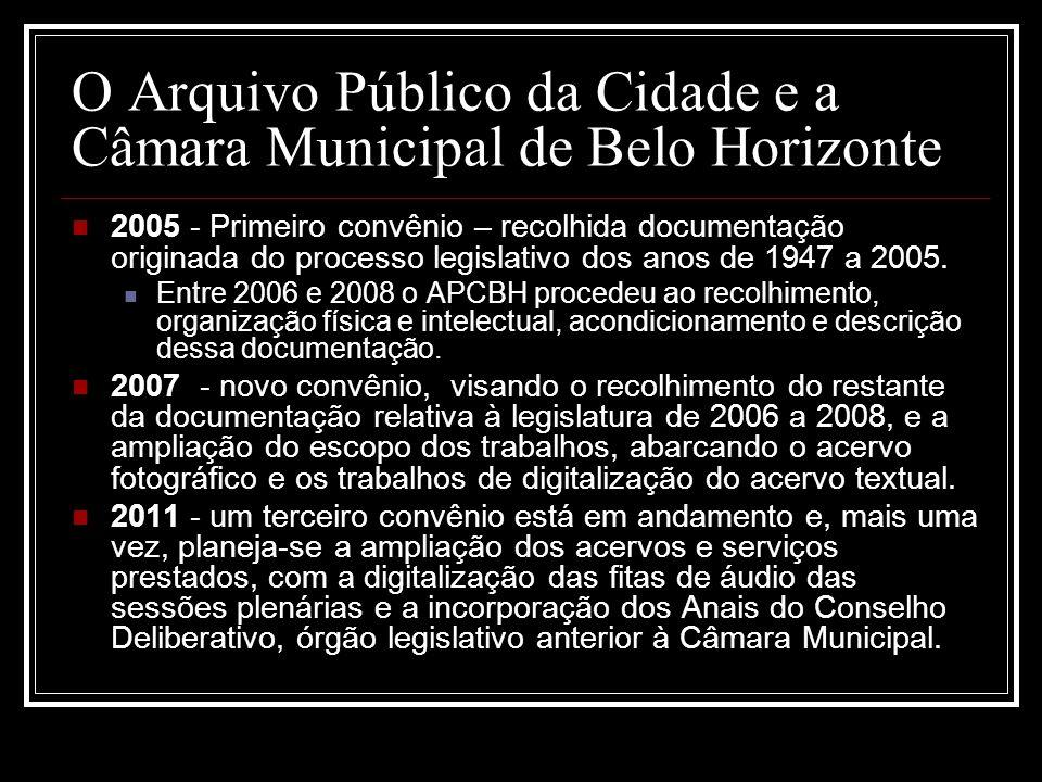 O Arquivo Público da Cidade e a Câmara Municipal de Belo Horizonte
