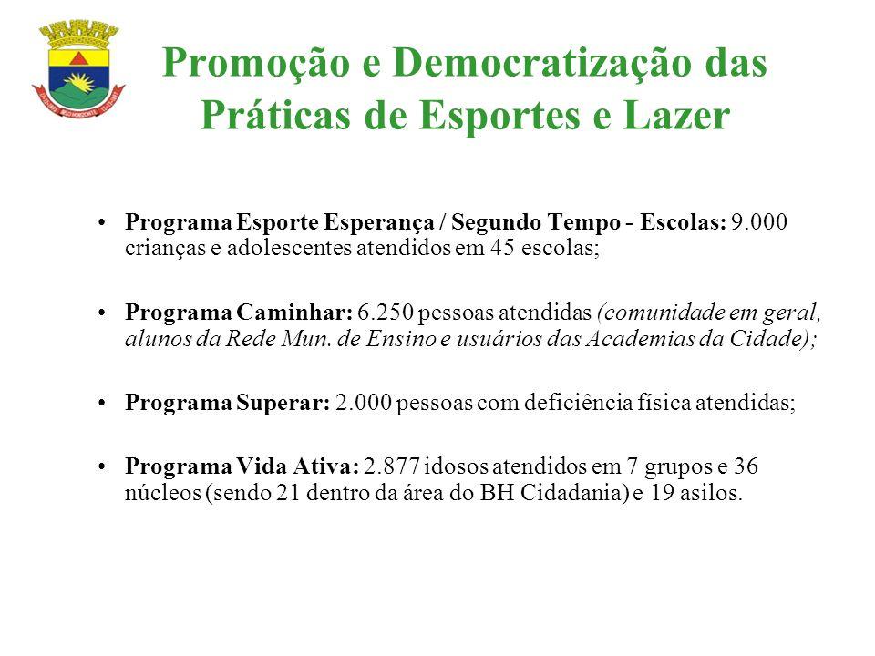 Promoção e Democratização das Práticas de Esportes e Lazer