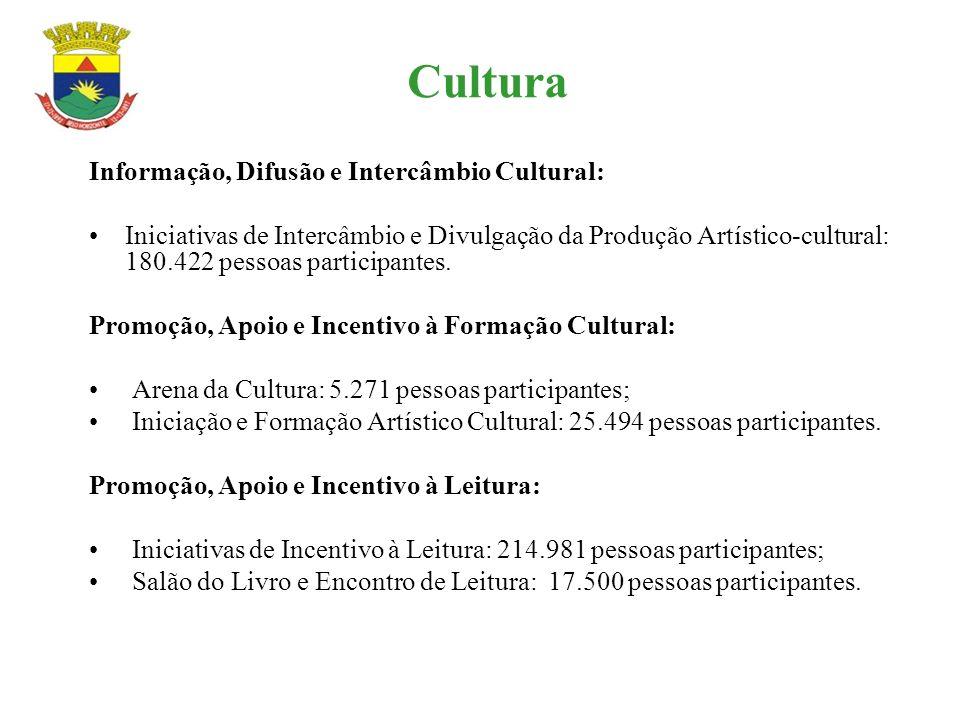 Cultura Informação, Difusão e Intercâmbio Cultural: