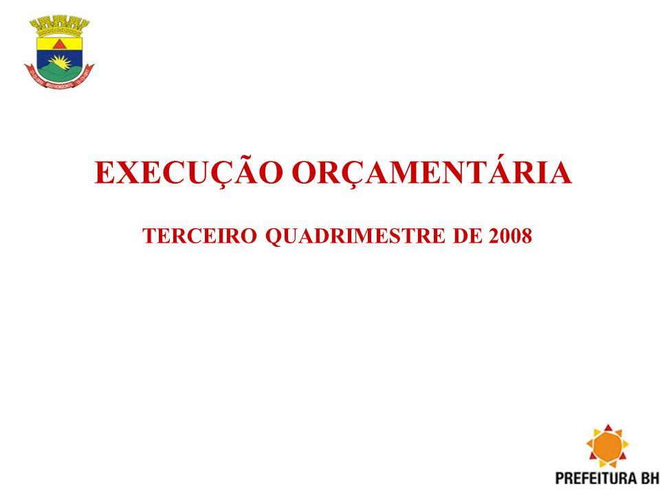 EXECUÇÃO ORÇAMENTÁRIA TERCEIRO QUADRIMESTRE DE 2008