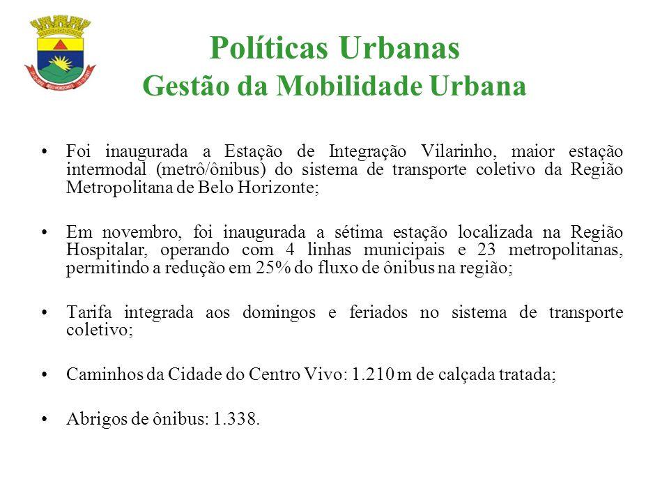 Políticas Urbanas Gestão da Mobilidade Urbana