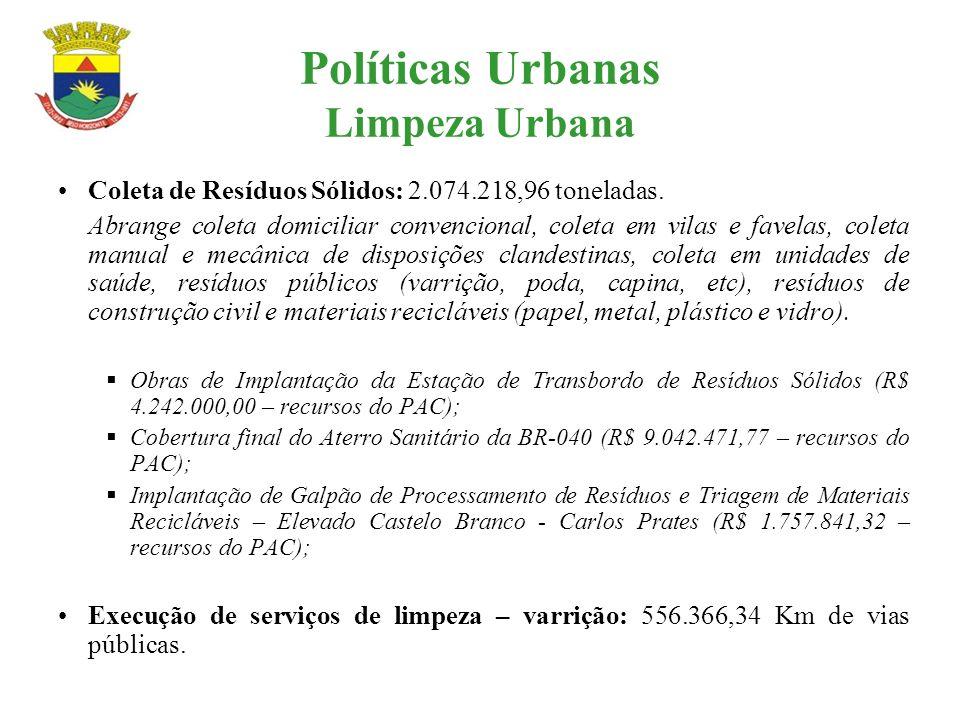 Políticas Urbanas Limpeza Urbana