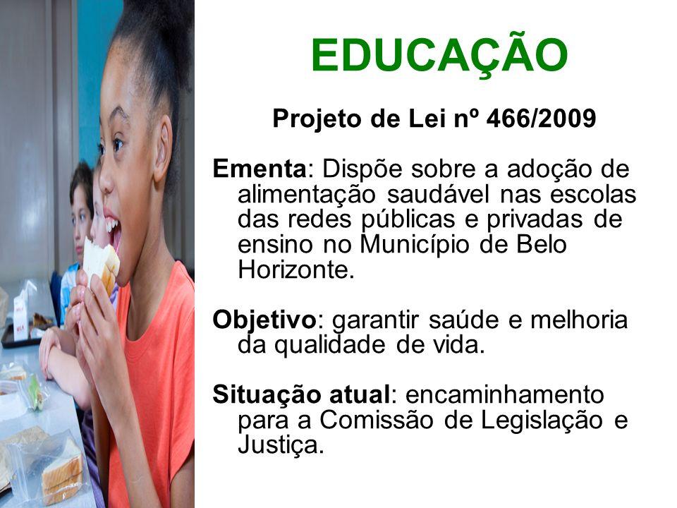 EDUCAÇÃO Projeto de Lei nº 466/2009
