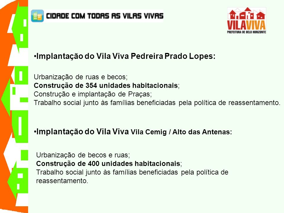 Implantação do Vila Viva Pedreira Prado Lopes: