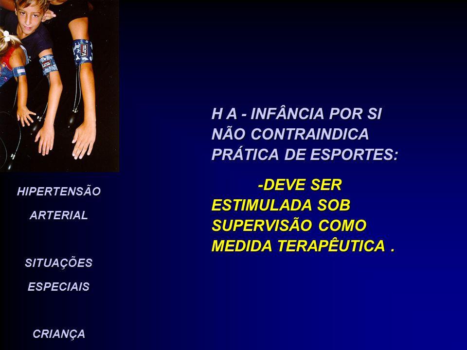 H A - INFÂNCIA POR SI NÃO CONTRAINDICA PRÁTICA DE ESPORTES: