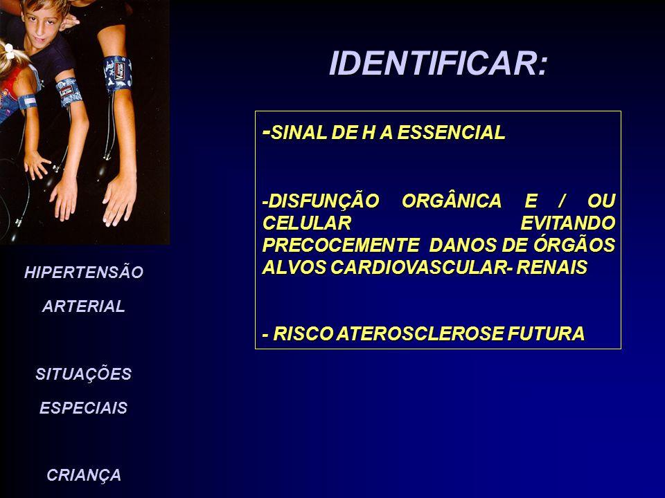 IDENTIFICAR: -SINAL DE H A ESSENCIAL