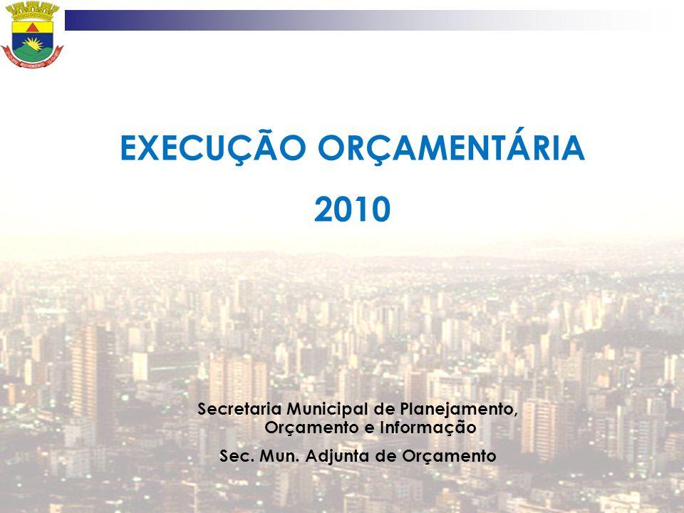 EXECUÇÃO ORÇAMENTÁRIA 2010
