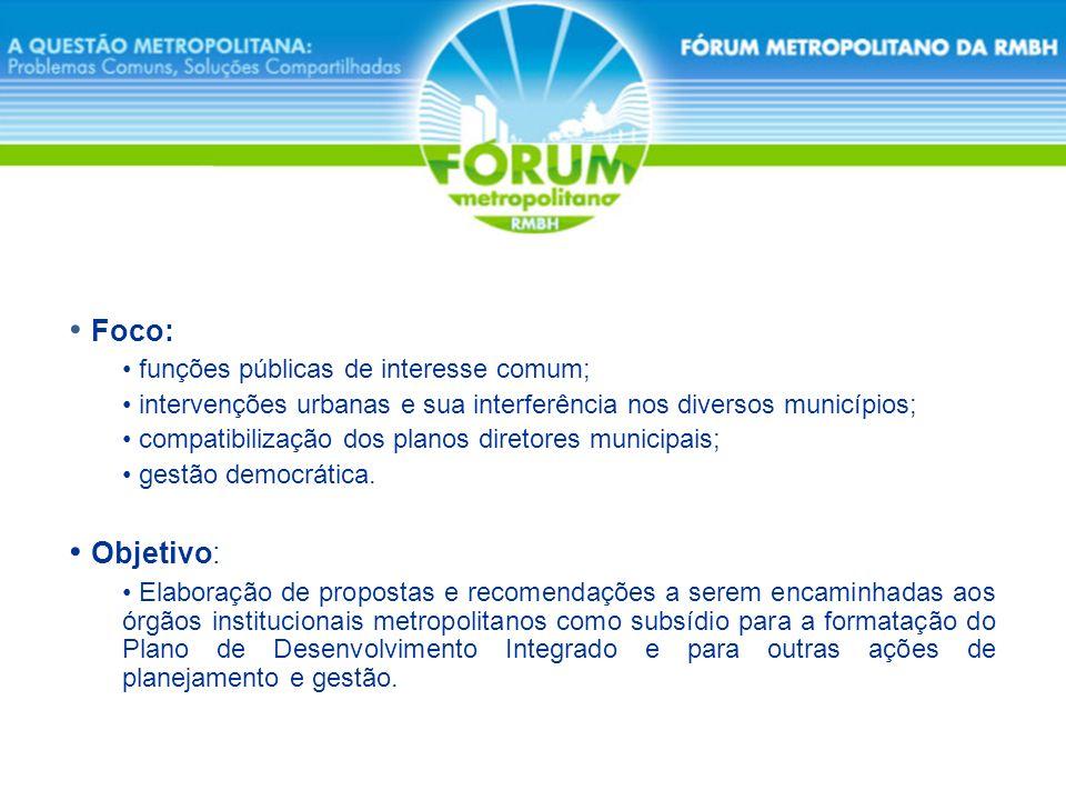 Foco: Objetivo: funções públicas de interesse comum;