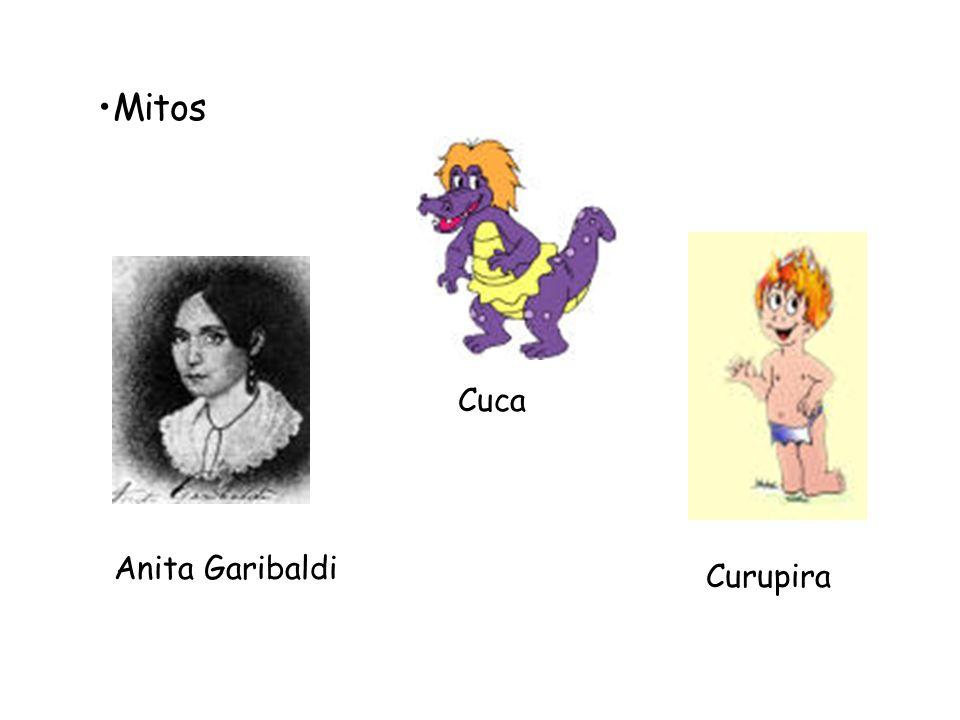 Mitos Cuca Anita Garibaldi Curupira