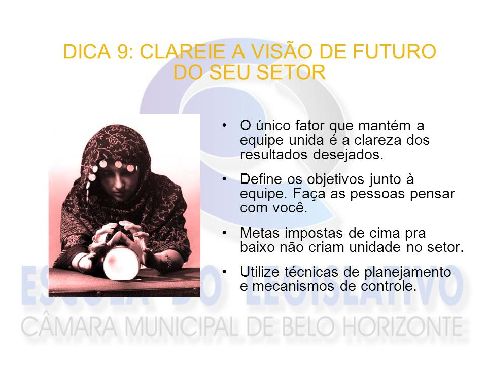 DICA 9: CLAREIE A VISÃO DE FUTURO DO SEU SETOR