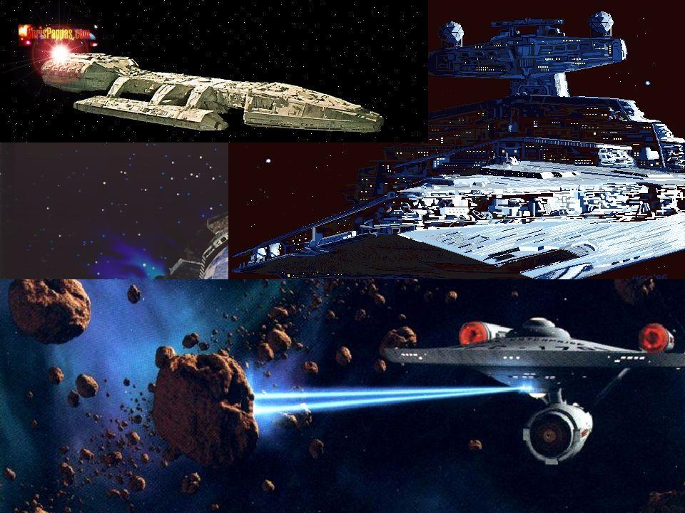 Na ficção científica... Naves: Entreprise Galactica Babylon 5