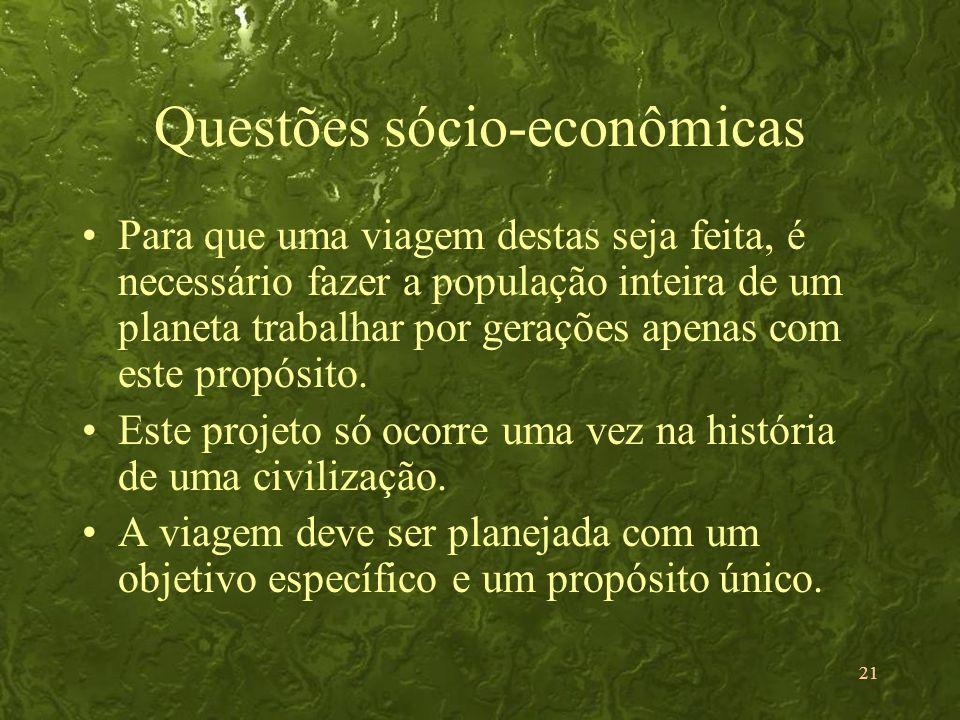 Questões sócio-econômicas