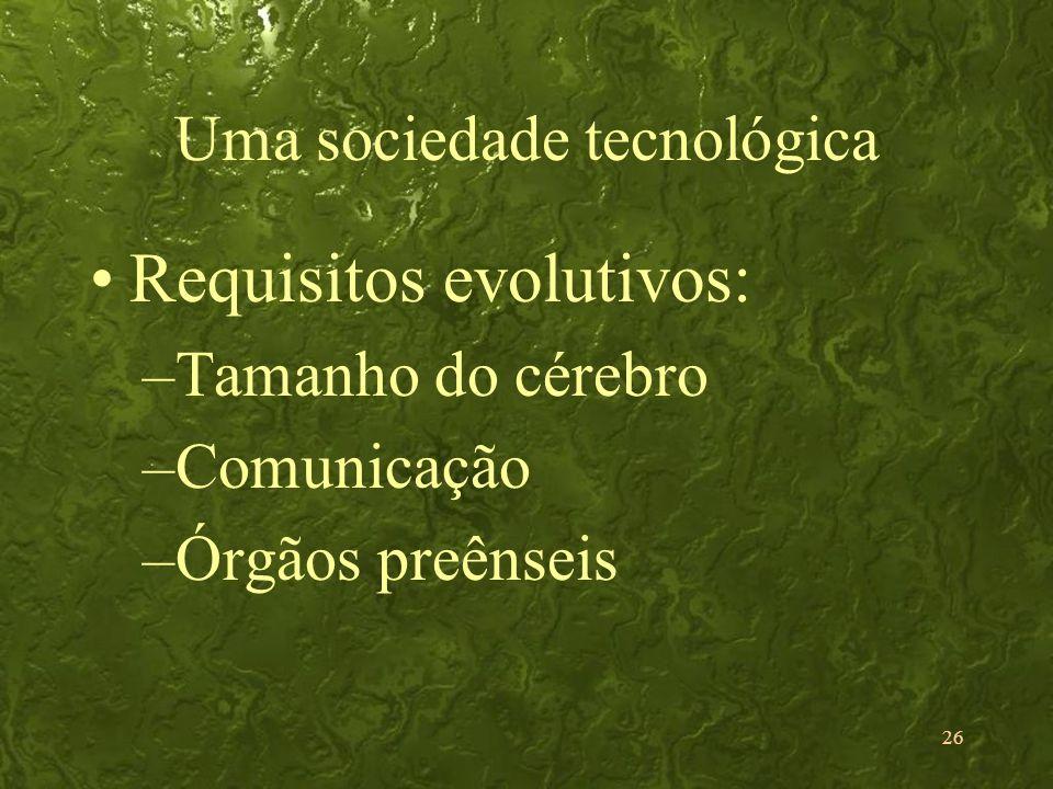 Uma sociedade tecnológica