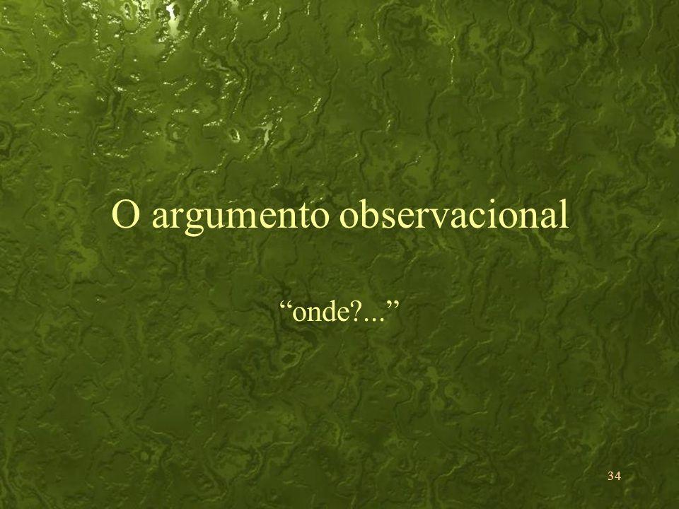 O argumento observacional