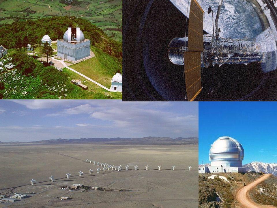 Telescópios Instrumentos poderosos e eficientes. LNA. Gemini. VLA.